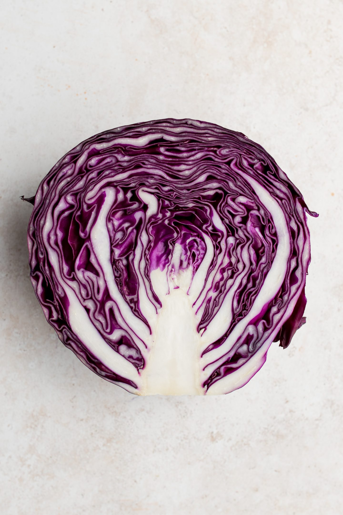 cut red cabbage